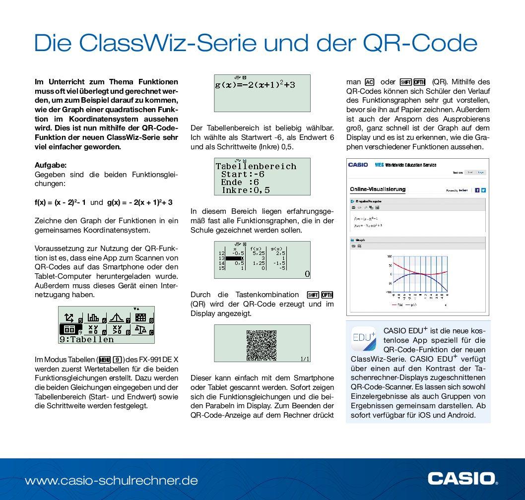 CASIO Aufgabe_FX-87DE X_EDU+ App